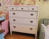 antique chic dresser shabby  white distressed cottage coastal bedroom vintage prairie
