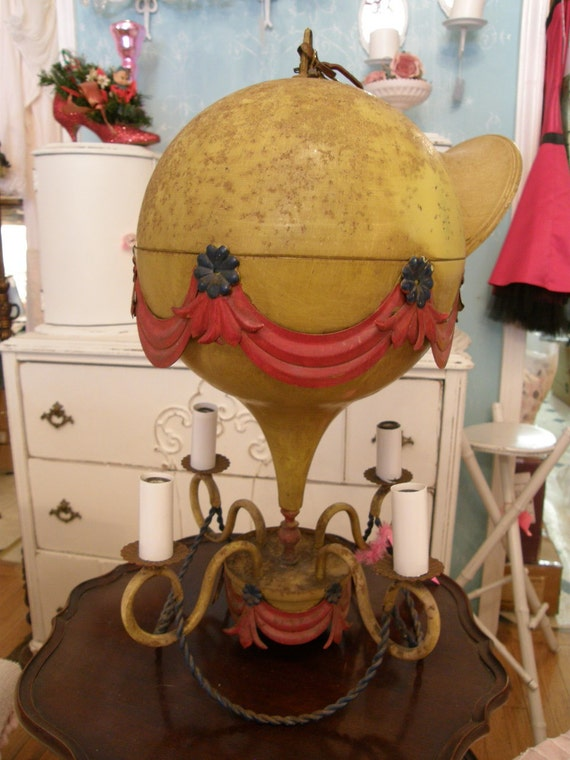 Antique French Chandelier Hot Air Balloon By Vintagechicfurniture