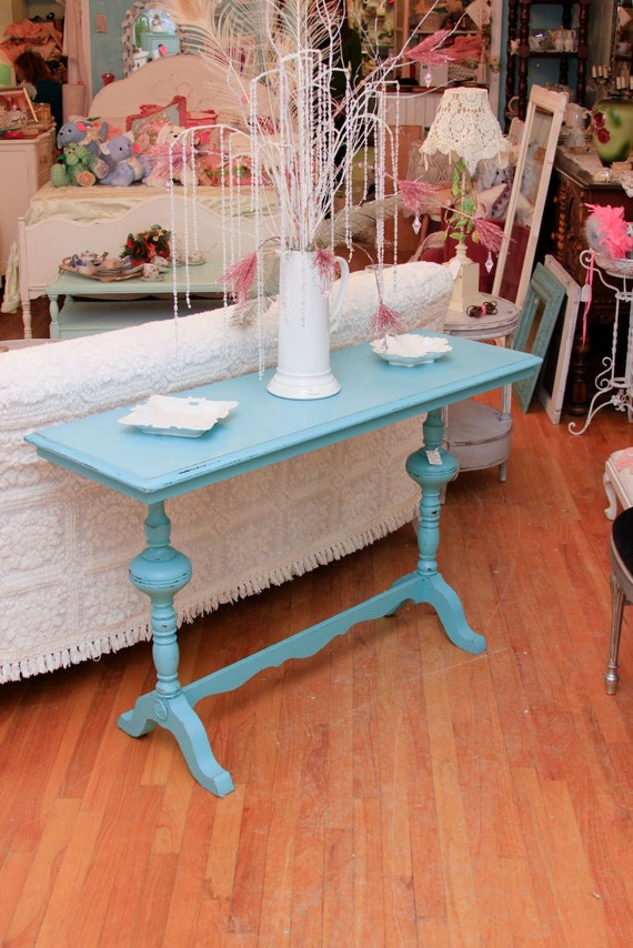 antique sofa entry table shabby chic by vintagechicfurniture