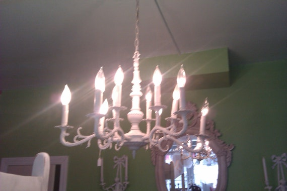 listing for amber frost huge antique crystal chandelier shabby chic ivory prairie french cottage awesome vintage lighting