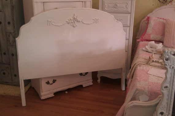 Listing For Jen P Antique Shabby Chic Full Headboard White