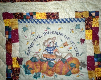 hand Quilted WALL  HANGING - You're the Pumpkin of My Eye