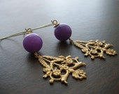 Grapevine Brass Earrings