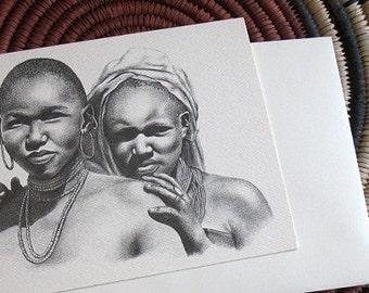 Masai sisters card