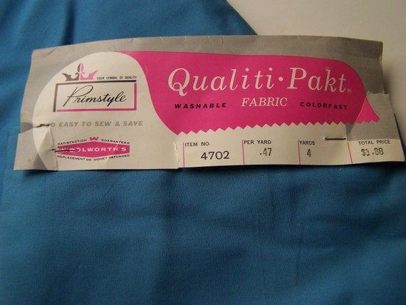 SALE 1960s Woolworth Cotton Fabric/Yardage