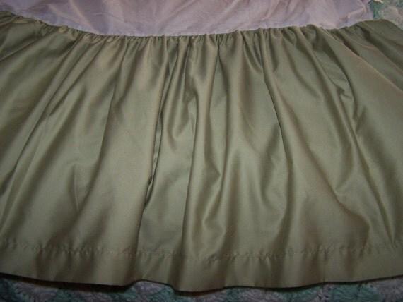 Queen Sage Bedskirt