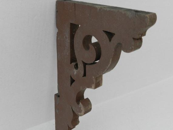 SALE 1950s Wooden Shelf Brackets