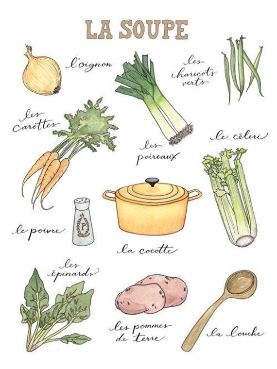 La Soupe fine art watercolor print