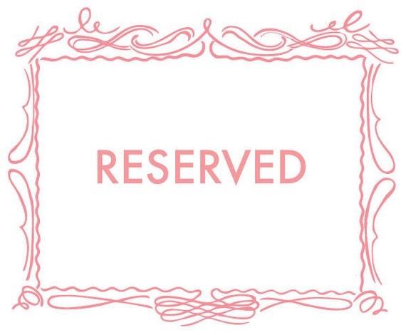 RESERVED FOR MEGAN- custom Monogram Banner rubber address stamp