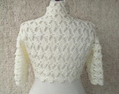 EXPRESS DELIVERY, Bridal Ivory Crochet Shrug