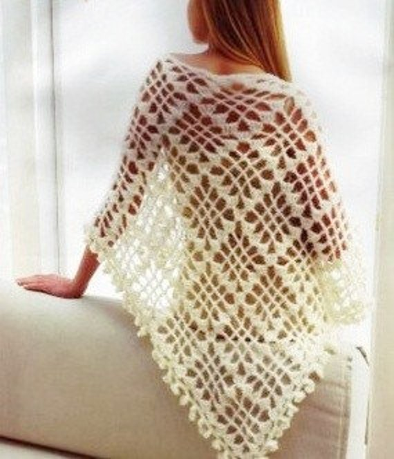 Ivory Bridal  Mohair Triangle Shawl