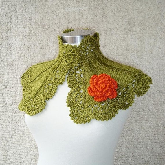 SPECIAL SALE - Extremely Fashionable Olive Green Capelet- All Season - Express Delivery
