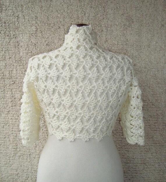 EXPRESS DELIVERY, Bridal Ivory Crochet Shrug