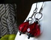 Corisca Ruby Red Earrings