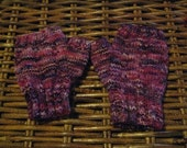 Mama Mara- mottled purple fingerless mittens- free postae and packaging