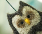 Needle Felted Friend - Owl Ornament