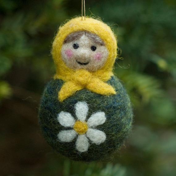 Needle Felted Matryoshka Doll Ornament