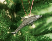 Sparkling Dolphin Ornament - Pewter