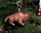 Sparkling Buffalo Ornament - Chocolate Brown