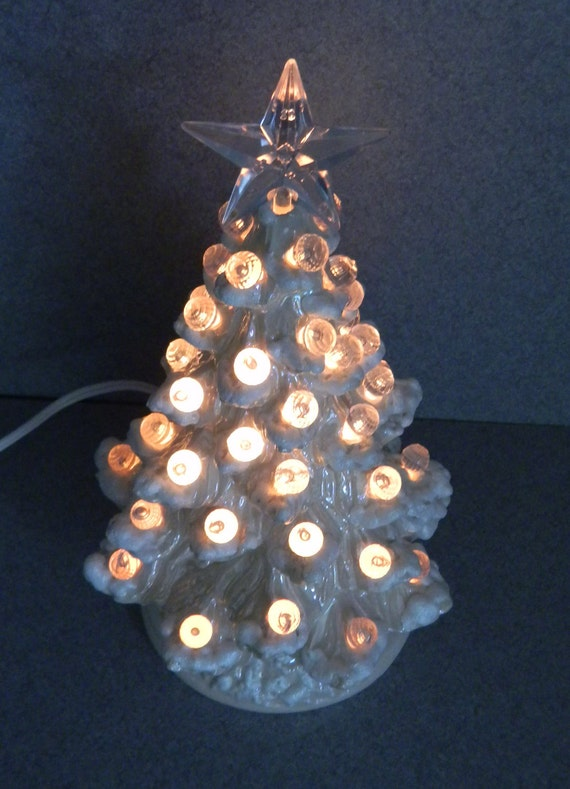 Christmas tree Wedding White Large ball lights CHRISTMAS TREE light  11 inches tall a holiday decoration