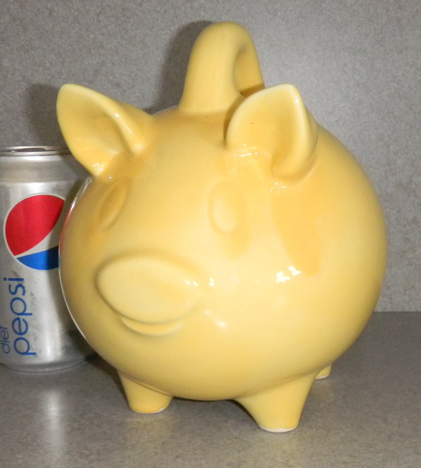 Sale Pig Bank Yellow Ceramic Piggy Bank With Stopper Ready To