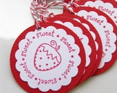 Sweet Strawberry Gift Tags - Set of 12