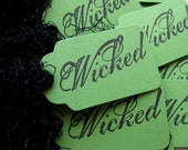 Wicked Green Gift Tags Handmade - Set of 12
