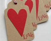 Love Punched Heart Gift Tags - Set of 8