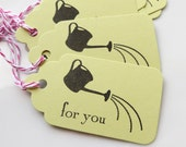 Watering Can Tags For You - Set of 8 - Custom Colors Available - Spring Gift Tags Garden Party Tags