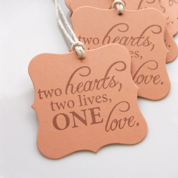 Thank You Quotes For Wedding Shower Gifts : Tags Love Quote - Set of 8 - Custom Colors Available - Bridal Shower ...