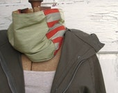 Reversible Cowl with Hidden Pocket  - Neckwarmer - Tube Scarf
