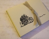 BSA Clubman Goldstar Motorcycle Ink Drawing Thank You Card Set of 5