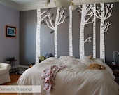 FREE SHIPPING 6 White Birch Tree 8ft Wall Decals w Ready to ship Free shipping
