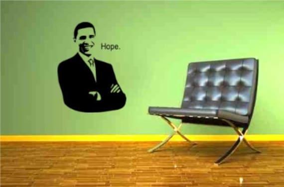 PRESIDENT BARACK OBAMA. wall sticker surface graphic by Lana Kole