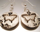 BUTTERFLY WITH BLOSSOM CIRCLE EARRINGS