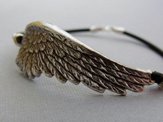 Silver Angel Wing Bracelet