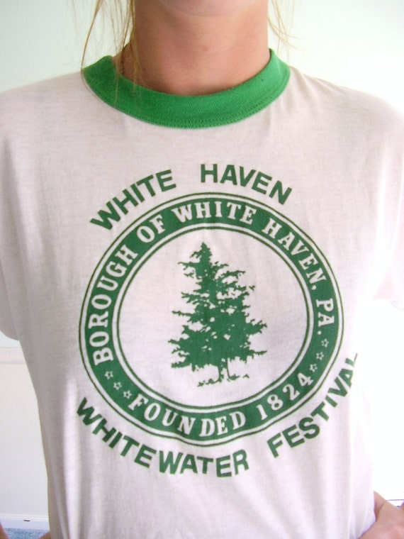 Whitewater Festival Vintage Late 70s/ Early 80s SS Novelty Graphic Print Tee XS/S