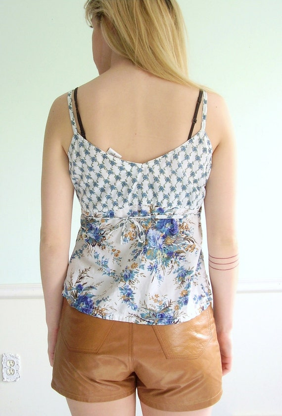 Mixed Seed Vintage Early 90s Sleeveless Floral Print Tank Blouse XS S