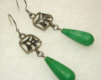 Asian Mystery Earrings - OOAK - No Shipping Charge within the U.S.