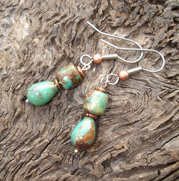 Turquoise Trail Earrings - No shipping Charge within the U.S.