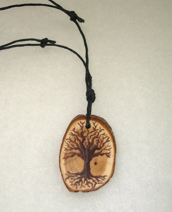 Handpainted Tree of Life Necklace V - OOAK - No shipping Charge within the U.S.