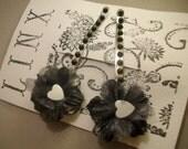 Black and White Hair pins