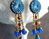 Earrings Vintage Glass La Cage Aux Folles