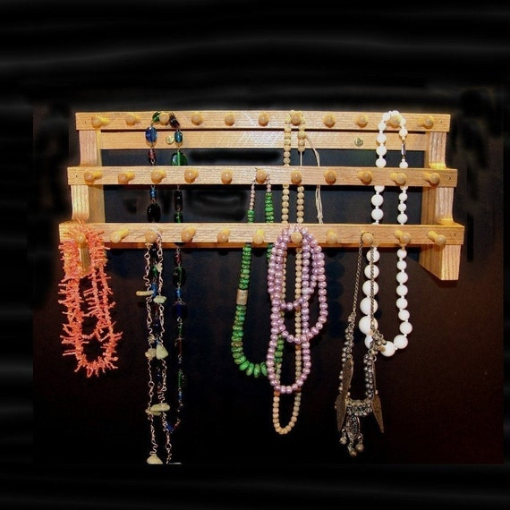 Necklace Holder Storage Hanging 18 Inches With 2 Inch Pegs