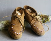 leather moccasins ankle boots size 6