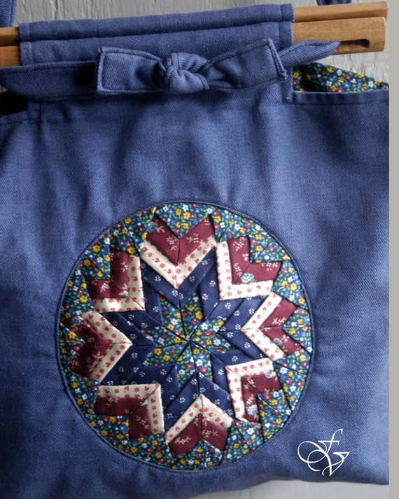 medallion quilted tote