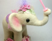 Made To Order - Pastel Pink  Baby Circus Elephant Baby's1st Birthday or Baby Shower Cake Topper