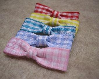 Mini Gingham Bows (set of 12)