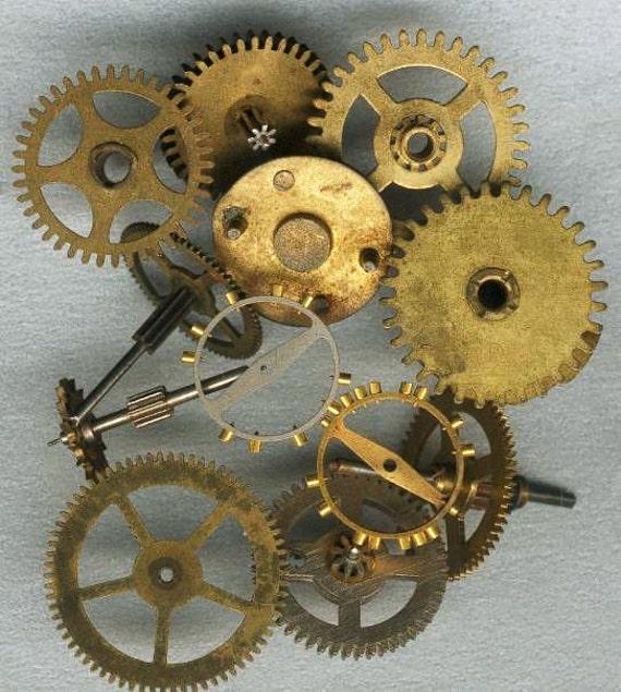 Old Clock Gears : Small gears antique vintage clock flat by vaartsuppliescom