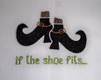 If the Shoe Fits-Halloween Hand Towel